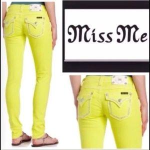 Miss me jeans Yellow Women size 29 Skinny